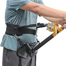Adjustable Waist Belt Fishing Supplies Fishing Rod Belly Support Holder For Boat Sea Fishing Accessories