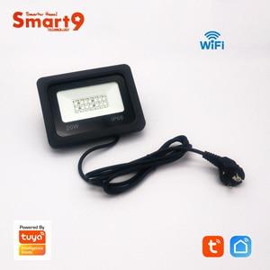 Image 3 - Smart9 Wifi מבול אור עבודה עם חכם חיים App, LED מקרן אור תואם עם Alexa ו google בית מופעל על ידי TuYa