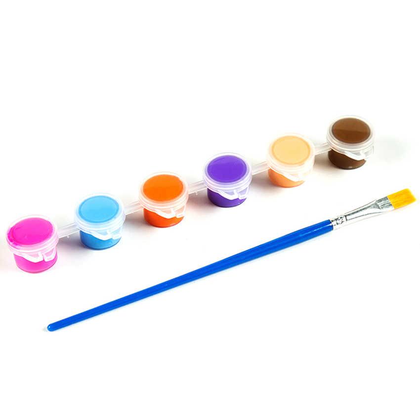 3Ml/5Ml 6/8 Màu Sắc Trẻ Em Vẽ Tự Làm Sơn Acrylic Waterbrush Sắc Tố Bộ, cho Quần Áo Dệt Vải, Giấy, Tre Da