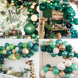 Image 1 - 子供ウッドランド動物誕生日恐竜パーティーの装飾 30 個ダークグリーンラテックス風船ヘリウムボール大人の結婚式用品