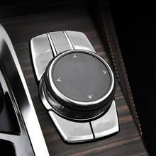 Chrome ABS For BMW G30 New 5 Series 528 530 540Li 2018-2020 Car Interior Multimedia Button Cover Trim Idriver Sticker Protection 5pcs abs idrive media control button cover sticker trim for bmw 5 series g30 2017 decoration