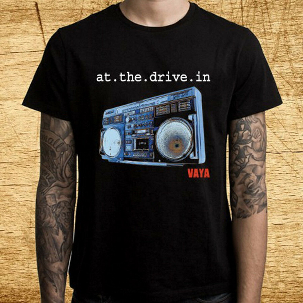 AT THE DRIVE IN Relationship of Command Rock Band Men/'s Black T-Shirt Size S-3XL