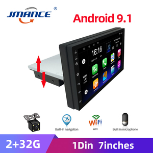 JMANCE 2G+32G Adjustable FM 1DIN 7 Inch Car Stereo Radio Android 9.1 Contact Screen GPS Navigation Car Radio Player