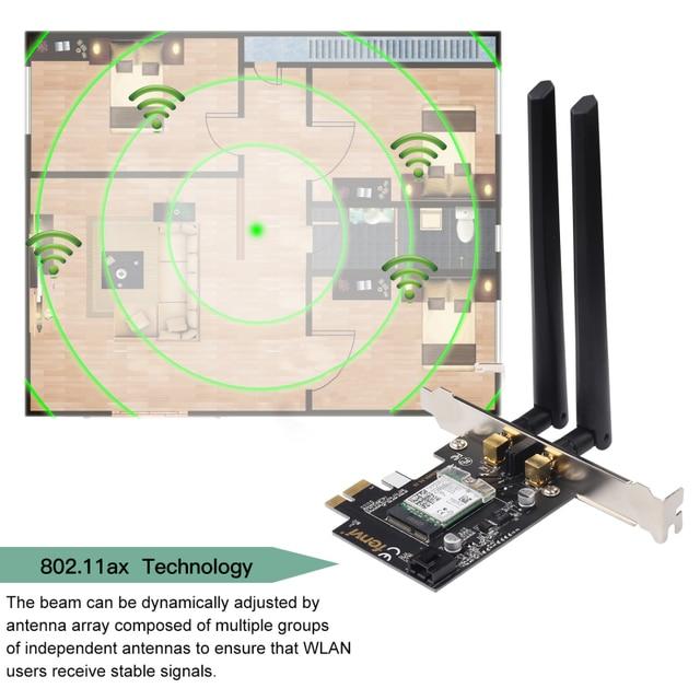 Desktop Wi-Fi 6 PCI-E Wireless Adapter 2.4Gbps 2.4G/5Ghz 802.11ac/ax Bluetooth 5.0 AX200NGW Wifi Card For Intel AX200 MU-MIMO