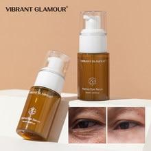 Vibrante glamour retinol olho soro anti-rugas remover sacos de olho desvanece-se linhas finas círculos escuros clarear cuidados com a pele 30ml