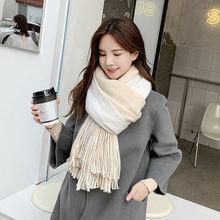 Женский зимний шарф корейский вариант ins теплый модного цвета