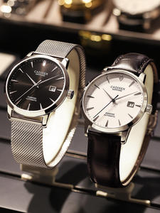CADISEN Men Watches Mechanical Miyota 9015 Sapphire Automatic Real Luxury Glass-Clock