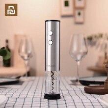 YOUPIN מעגל שמחה אוטומטי אדום יין בקבוק פותחן נירוסטה חשמלי מחלץ לסכל קאטר בסיס פקק מתוך כלי