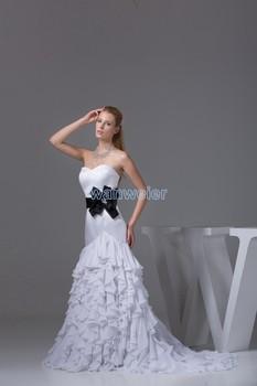 free shipping new fashion wedding decoration 2017 Mermaid vestidos dress long hot sale simple custom chiffon dresses