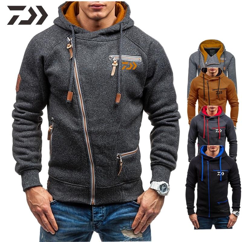 daiwa roupas de pesca jaqueta de inverno dos homens com capuz de pesca quente moletom casaco