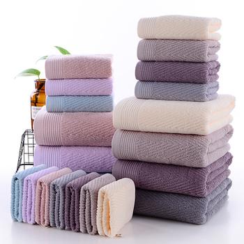 100 bawełna 3 sztuka ręczniki łazienkowe ręczniki myjki luksusowe miękkie chłonne i ekologiczne fioletowy niebieski różowy szary wielbłąd tanie i dobre opinie Zestaw ręczników Dobby Można prać w pralce Bawełna czesana Prostokąt 5 s-10 s 0 45kg Stałe Gładkie barwione