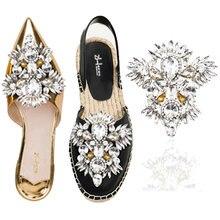 Стразы со звездочками нашивка для обуви невесты роскошные зажимы