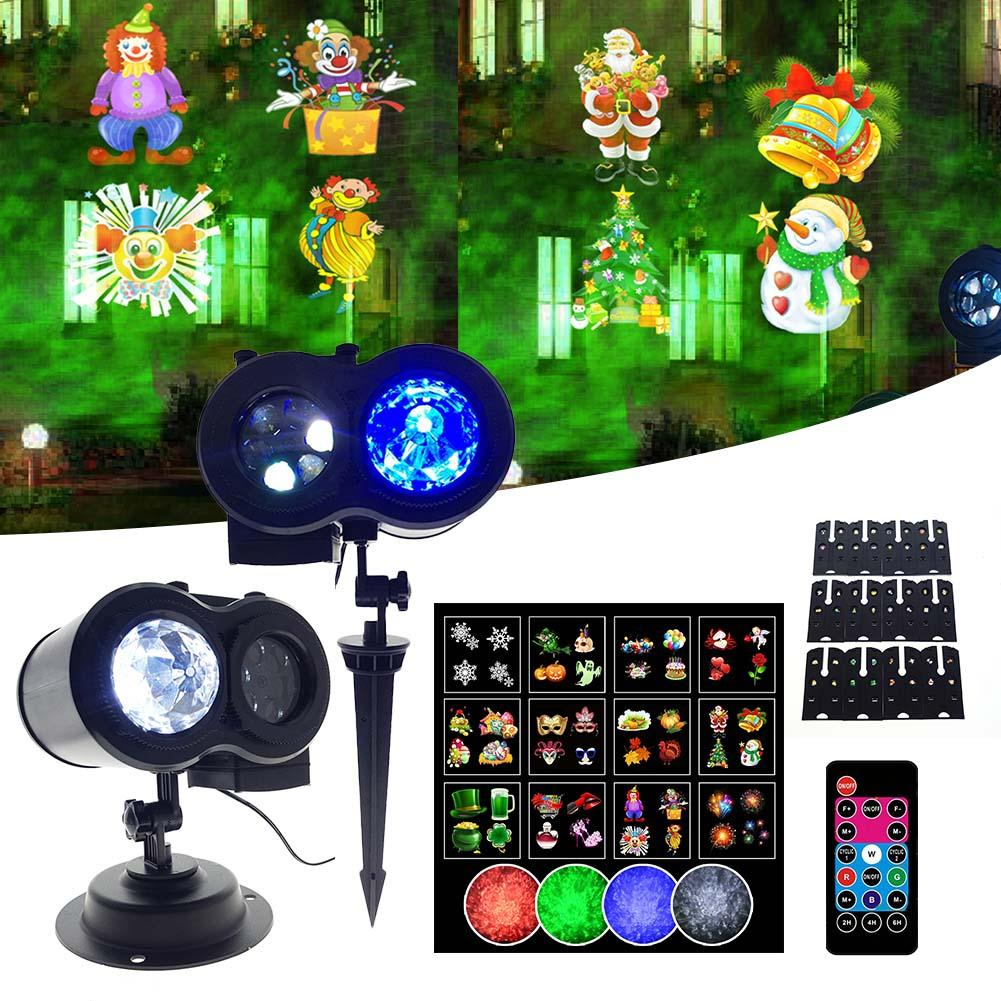 Snowflake Christmas LED Projector Lights Festival Home Party Decor Night Lamp Snow Projector Light Christmas Decoration Light