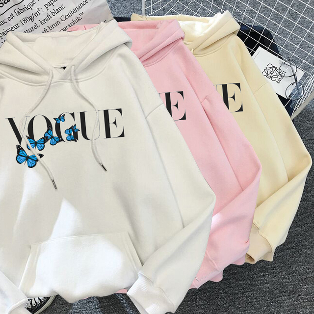 2021 Fashion VOGUE Princess Hoodies Women Harajuku Sweatshirt Streetwear Hoodie Female Pullovers Kawaii Clothing Aesthetic
