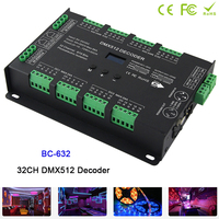 BC 632,32CH DMX PWM Decoder Controller DC5V 24V Constant Voltage DIM /CT /RGB /RGBW 4 modes switch led Strip driver
