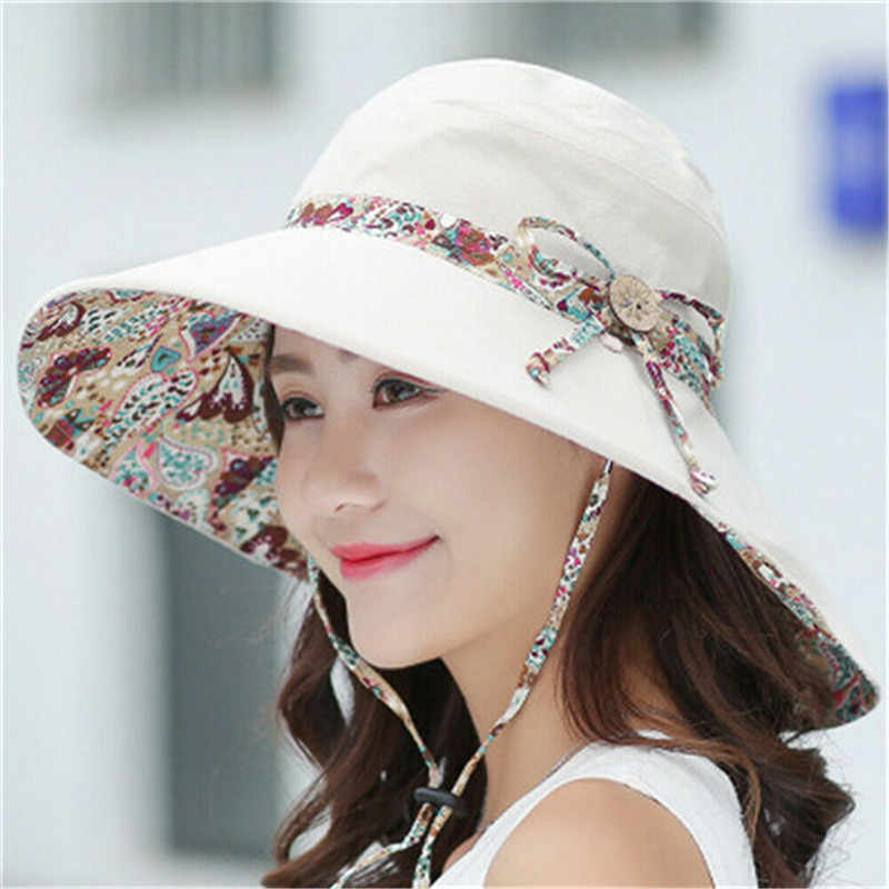 Fashion Hats for Women Summer Wide Brim Ladies Fedora Sun Hat Caps Outdoor New