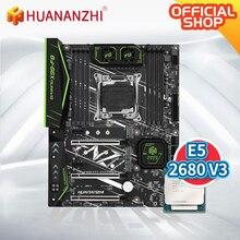 HUANANZHI X99-F8 Motherboard with Intel XEON E5 2680V3 LGA2011-3 DDR4 RECC/NON-ECC memory NVME USB3.0 ATX Server workstation цена 2017