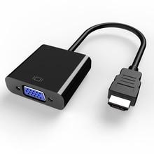 HANNORD HDMI zu VGA Adapter hdmi vga Konverter Adapter 1080P HD Männlich zu Weiblich Adapter Video Audio Für PC laptop Tablet TV Box