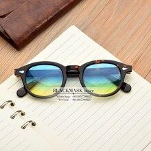 Nouveau classique Lemtosh vintage acétate rond lunettes de soleil été UV400 rétro marque lunettes de soleil design femmes hommes oculos de sol