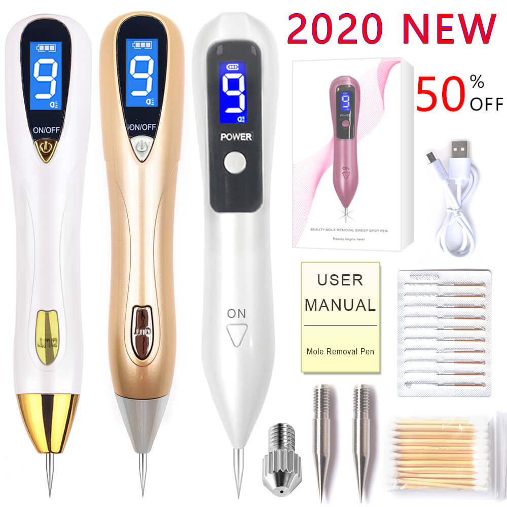 Laser Mole Removal Pen Wart LCD Remover Tool Beauty Care Skin Corn Freckle Tag Nevus Dark Age Sweep Spot Tattoo Electric Machine