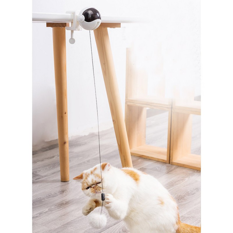 Electronic Motion Cat Toy Interactive Cat Teaser Toy Yo-Yo Lifting Ball Electric Flutter Rotating Interactive Puzzle Pet Toys