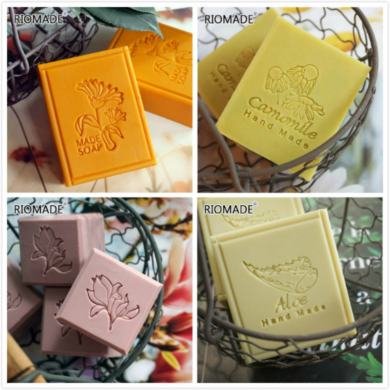 Calendula Aloe Camomile Magnolia Styles Acrylic Soap Stamp Plant Series Natural Organic Handmade Seal With Handle Chapters