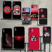 CUTEWANAN Massey Ferguson Tractors logo Black Soft Shell Phone Case Capa for iPhone 11 pro XS MAX 8 7 6 6S Plus X 5S SE XR case cutewanan shooting game apex legends black soft shell phone case capa for iphone 11 pro xs max 8 7 6 6s plus x 5s se xr case