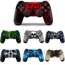 Blue Skull Protective Sticker Cover For PS4 Controller Vinyl Skin For PlayStation4 joypad Decal For Sony PS4 gamepad Accessories