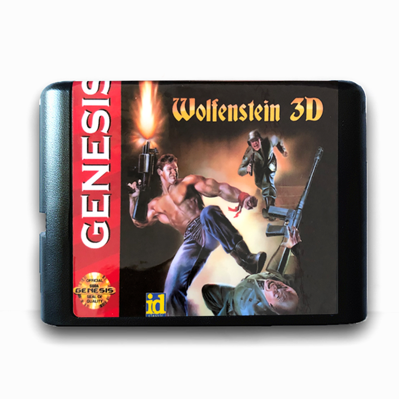 wolfenstein 3D for 16 bit Sega MD Game Card for Mega Drive for Genesis US PAL Version Video Game Console-in Memory Cards from Consumer Electronics