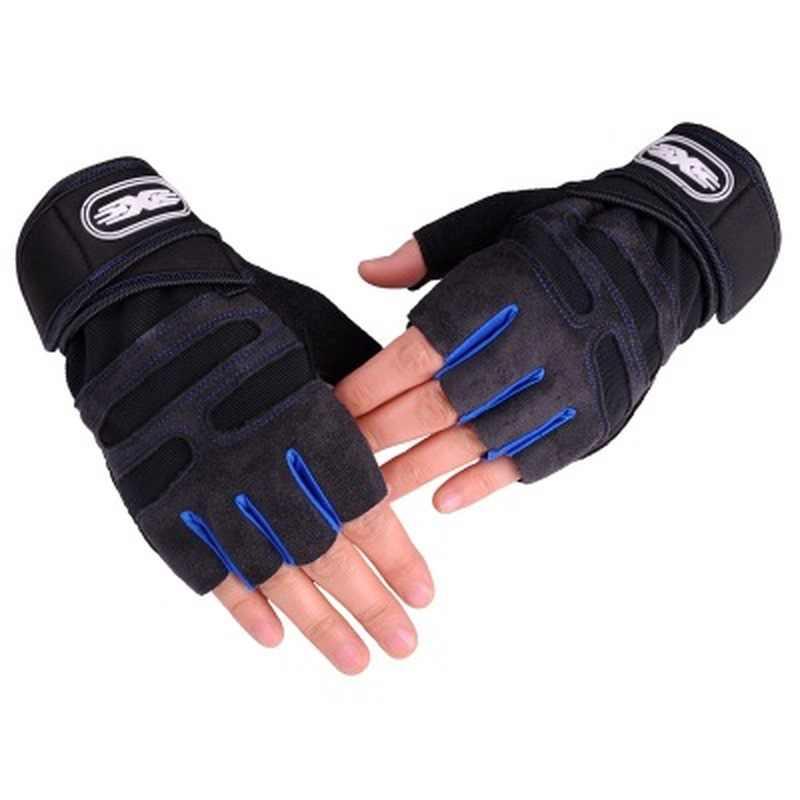 Metade do dedo luvas de ciclismo luvas de levantamento de peso proteger o pulso ginásio treinamento luvas sem dedos das mulheres dos homens luvas de ciclismo