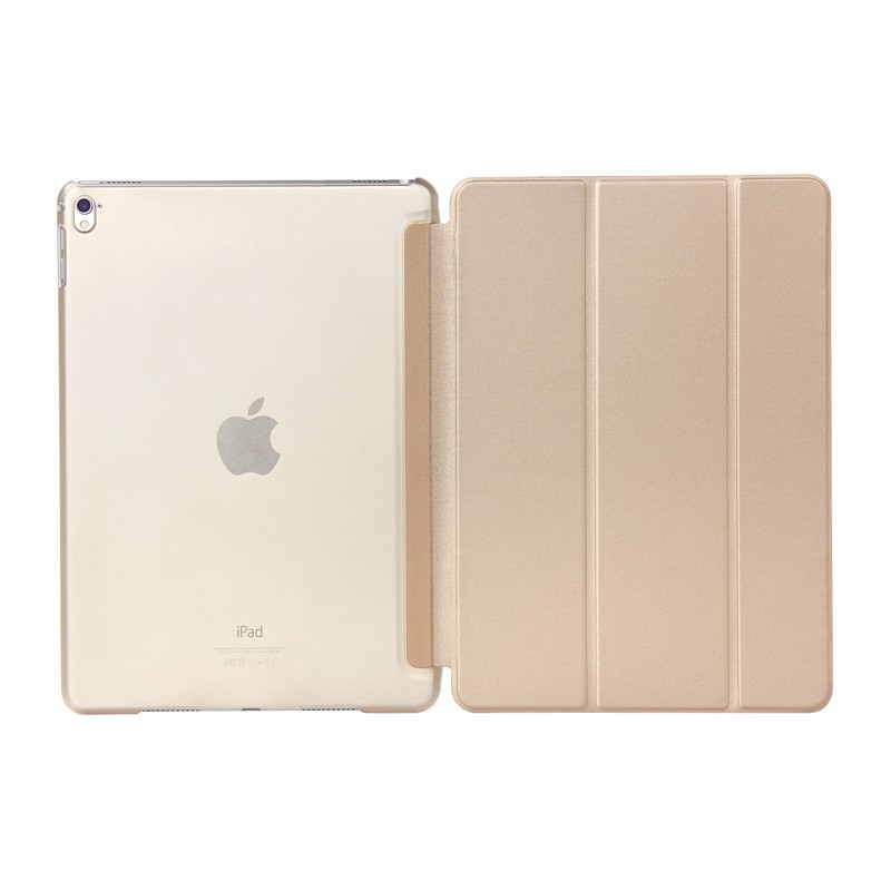 Gold Red Case For iPad 8 10 2 inch 2020 PU Leather Trifold Stand Cover Smart Auto Wake