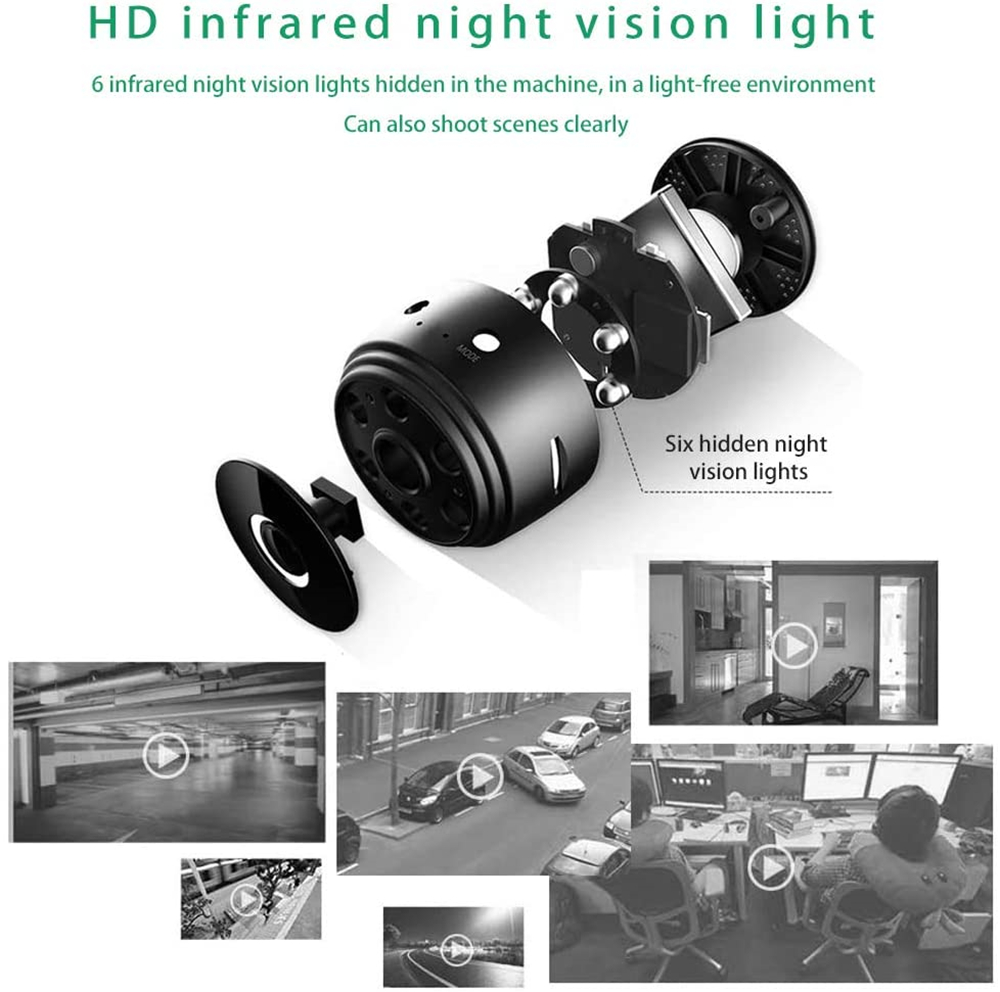 1080P A9 Mini Camera Wifi Wireless Action Smart Home Security Camera P2P Micro Camcorder Video Recorder Remote Casa Inteligent 2