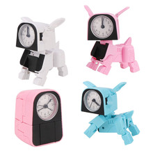 2020 NEW Portable Cute Dog Shape Digital Alarm Clock With Led Sound Night Light Function Table Wall Clocks For Home Decoration
