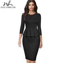 Work-Dresses Bodycon Business Spring Women Nice-Forever Elegant Btyb599 Peplum Slim Vinatge