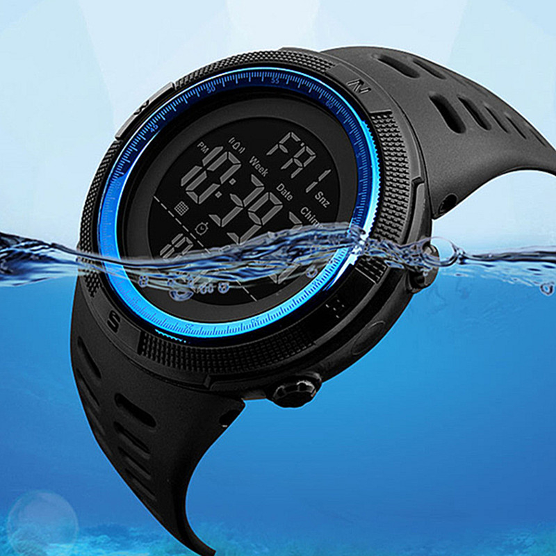 Swim 50 M Waterproof Watch Brand Sports Men Watches Earthquake Resistance Scratch Resistant Outdoor Electronic Digital Clock Man