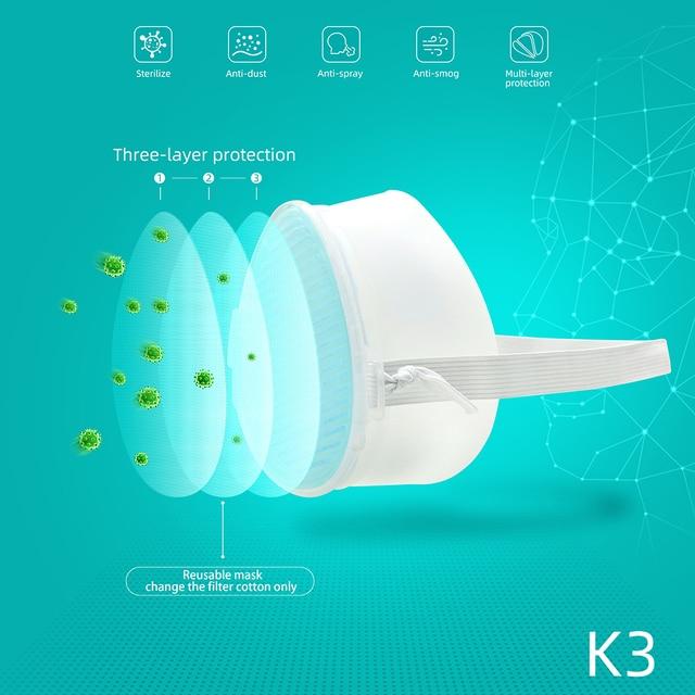 K3 Electric Mask Respirator haze PM2.5 / second-hand smoke / air purification / anti-flu PM2.5 Face Mouth Mask 4