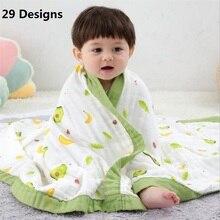 29 สีSoft Musilnผ้าฝ้ายผ้าปูที่นอนผ้าห่มทารกแรกเกิดMuslinผ้าห่มห่อตัวเด็กเด็กทารกเด็กรับผ้าห่ม