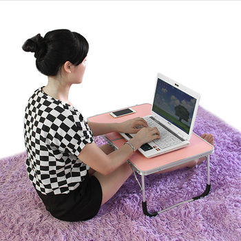 Foldable computer table,portable laptop desk,metal notebook desk for bed,easy to store study Can be used on bed and sofa