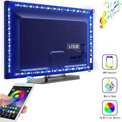 Lumière de bande Led USB DV 5V LED Bluetooth bande lampe 5050SMD 1M 2M 3M bande lumière Led RGB Diode salon TV rétro-éclairage éclairage