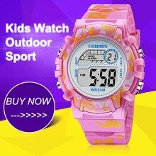 Pink Colorful Kids Watches New Digital Waterproof Luminous