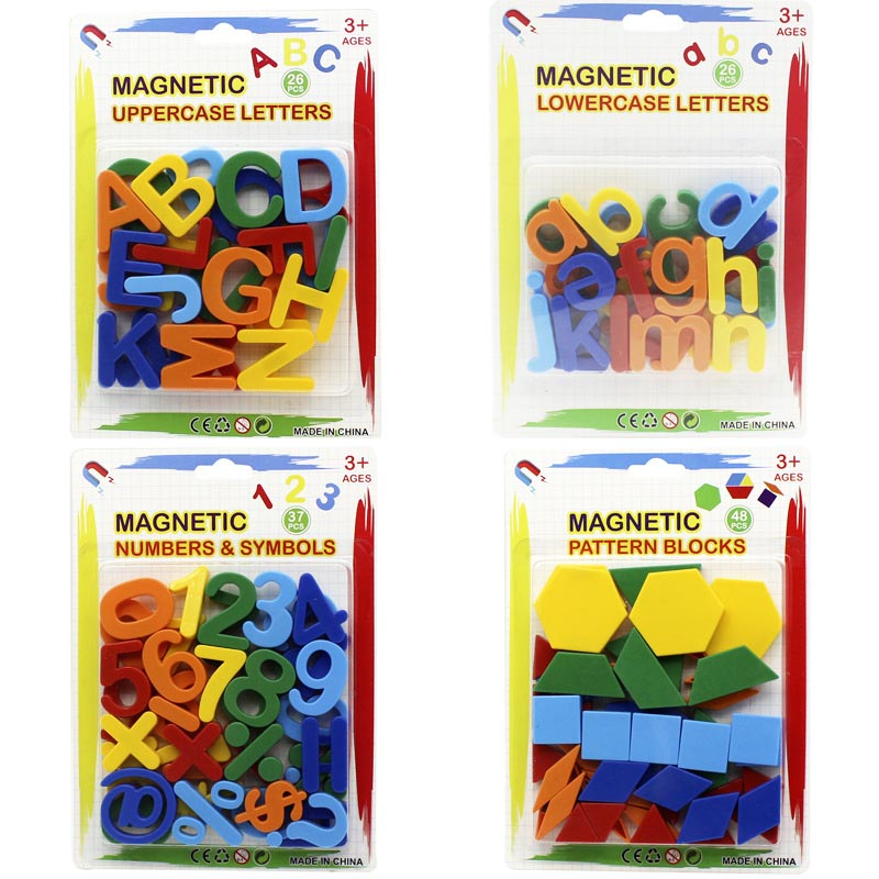 Montessori Language Mathematics Teaching Aids English Letters, Numbers And Geometric Figures Puzzle Magnetic Toys 3 Years Old