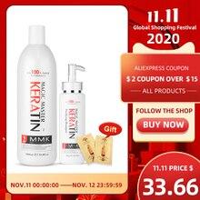 11.11 Zonder Formaline 1000Ml Keratine Haar Reparatie Behandeling Haarverzorging + 300Ml Zuiverende Shampoo Krijgen Gratis Geschenken