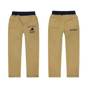 Image 5 - 4 12T ชายกางเกงสบายๆ 100% ฝ้ายตรงกางเกงสำหรับชายสีขาวเด็กกางเกงเด็ก 110  150 คุณภาพสูง