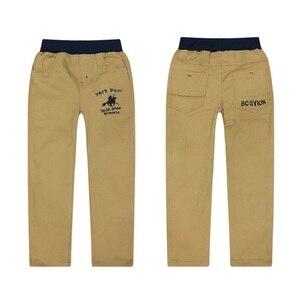 Image 5 - 4 12T Dei Ragazzi Dei Pantaloni Casual Solido 100% Cotone Dritto Pantaloni per I Ragazzi Bianco Ragazzo Dei Bambini Pantaloni 110  150 di Alta Qualità