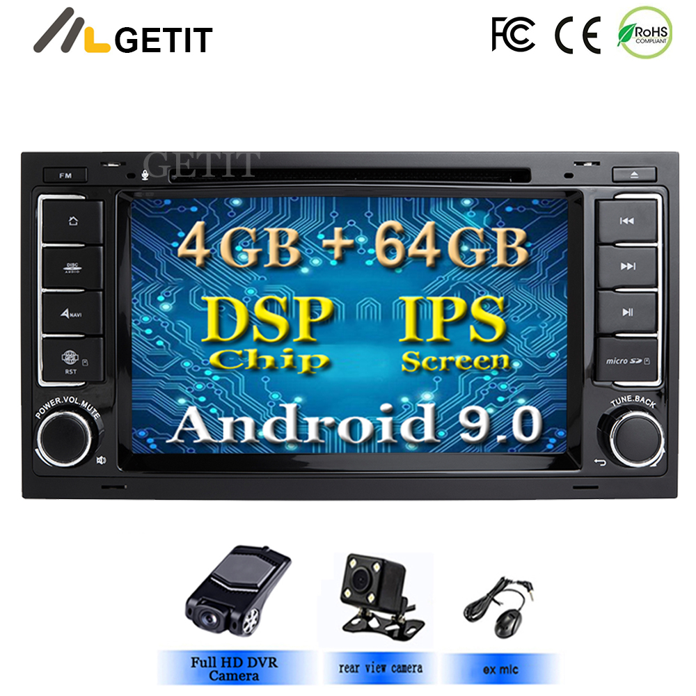 DSP Chip IPS Android 9.0 4G 64G CAR GPS For VW Volkswagen Touareg T5 Transporter Multivan dvd player radio multimedia navigation-in Car Multimedia Player from Automobiles & Motorcycles    1