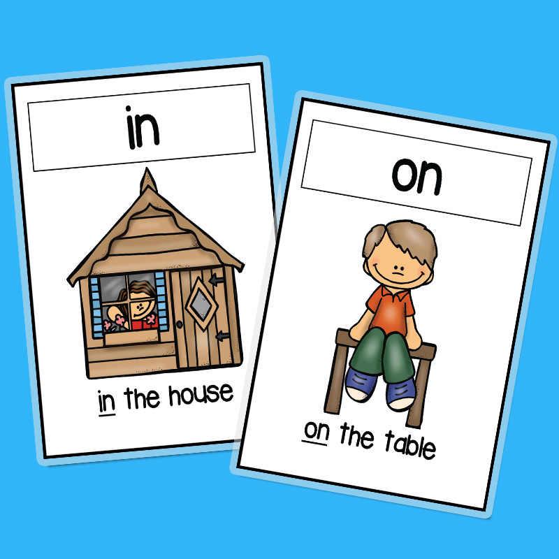 Tarjetas Flash en inglés, 14 unidades, tarjetas preposicionadas con imagen de palabra educativa temprana, tarjetas cognitivas para guarderías, material didáctico para profesores de inglés