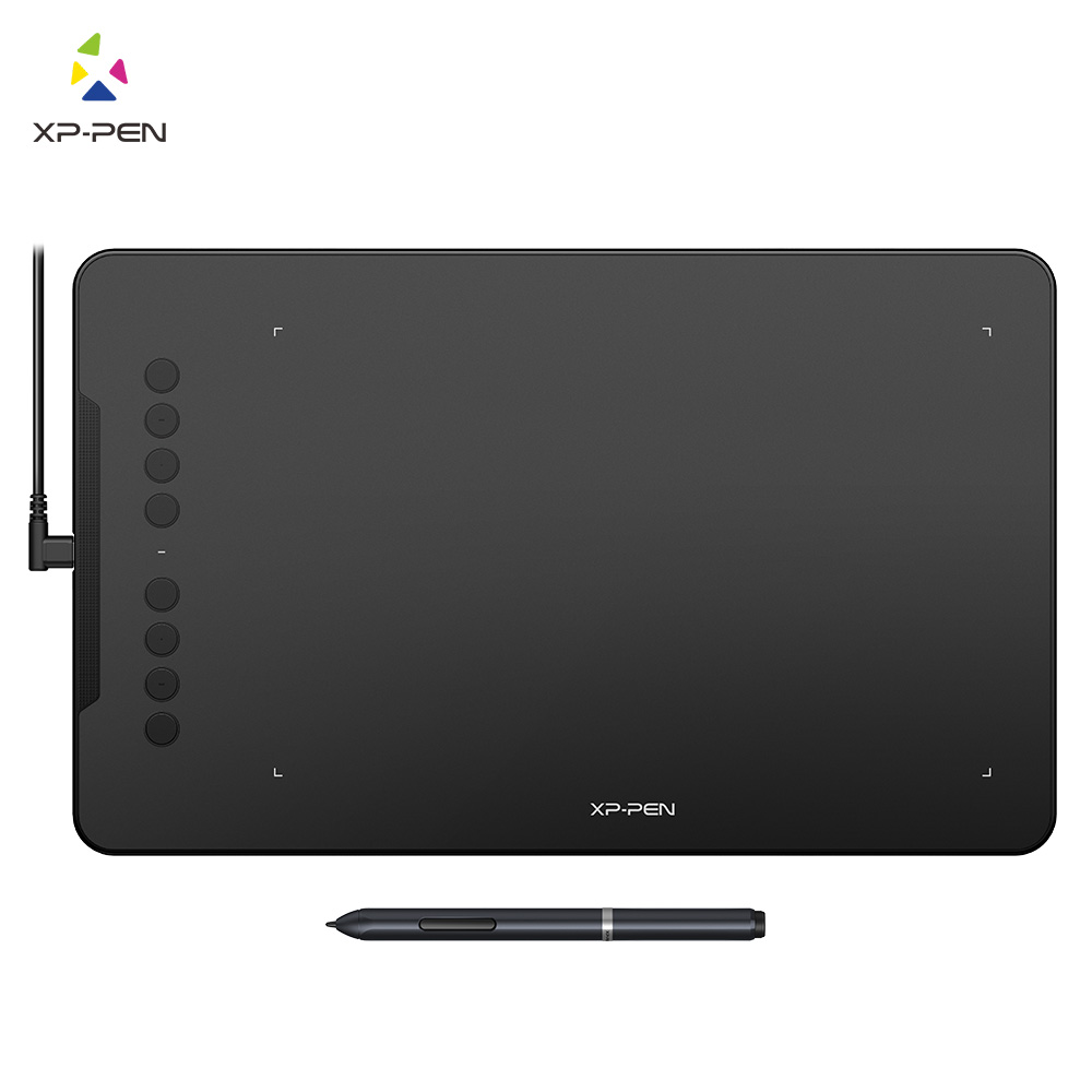 XP-Pen DECO 01 10x6,25 дюймов 8192 уровень бесбатарейная Ручка Поддержка Windows Mac цифровой графический планшет для рисования анимация
