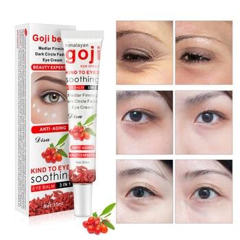 Face Care Goji Eye Cream Anti Wrinkle Remove Dark Circles Moisturizing Hydrating Whitening Firming Eye Cream недорого