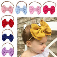 New Baby Headband Baby Girl Headbands For Girls Turban Baby Headdress Baby Bows Headband Nylon Bow Hair Accessories