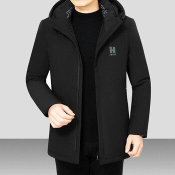 2020 Winter Down Parka Men's Solid Jacket New Arrival Thick Warm Coat Long Hooded Jacket Windproof Padded Coat Fashion Men 4XL original new arrival official adidas men s windproof jacket hooded sportswear